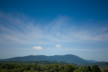 Mt Dandenong to the south, Yarra Valley to the north (east).